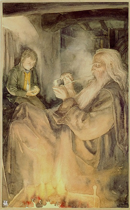 ma Tolkien14 Alan Lee Frodo and Gandalf. Алан Ли