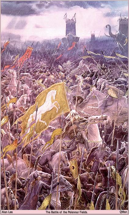 QMAN TN TW 1052 The Battle of the Pelennor Fields. Алан Ли