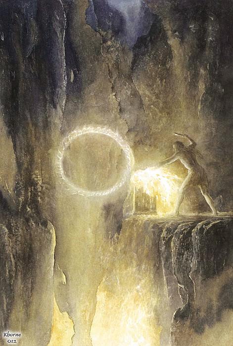 Khorne012 Alan Lee Sauron forging the Ring. Алан Ли