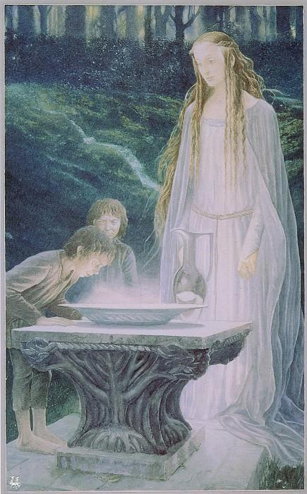 ma Tolkien27 Alan Lee The Miror of Galadriel. Алан Ли