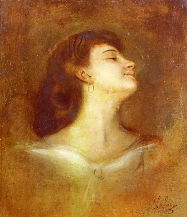 Portrait Of A Lady In Profile. Franz von Lenbach
