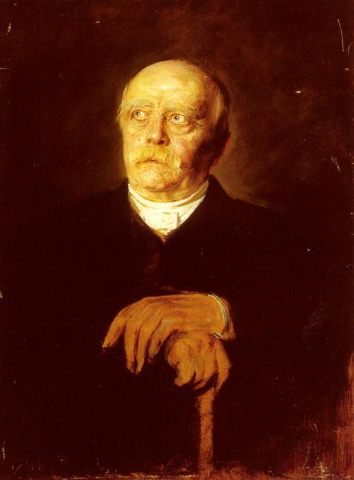 Portrait Of Furst Otto Von Bismarck. Franz von Lenbach