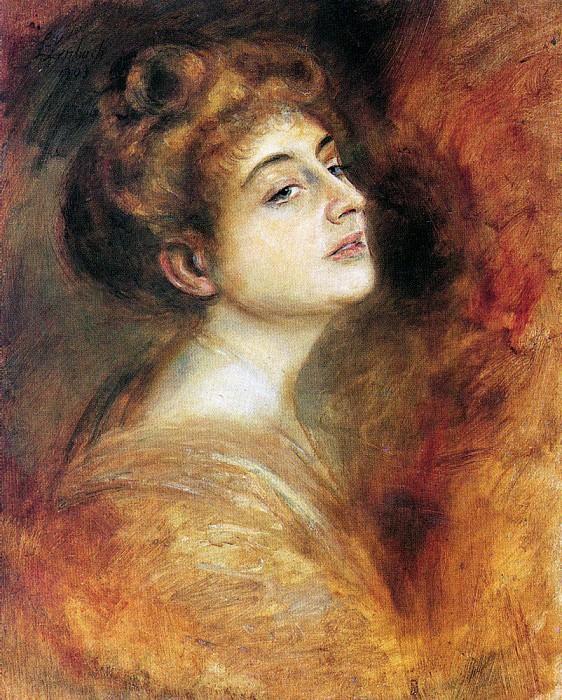 Lily Merk 1903. Franz von Lenbach