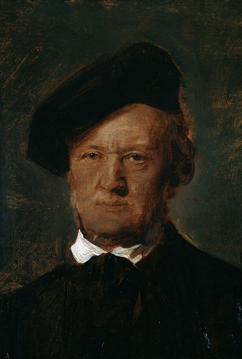 Portrait of Richard Wagner. Franz von Lenbach