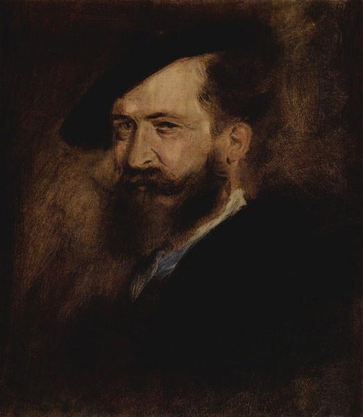 Portrait of Wilhelm Busch. Franz von Lenbach