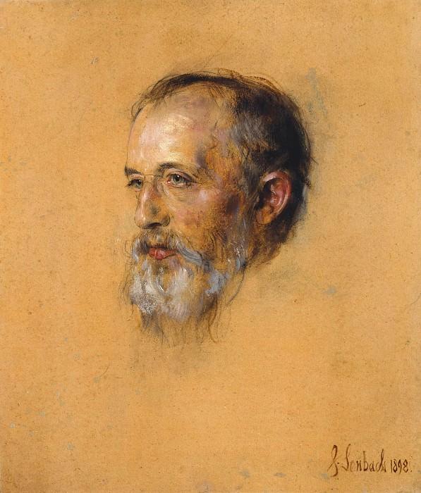 Portrait Hermann Levi. Franz von Lenbach