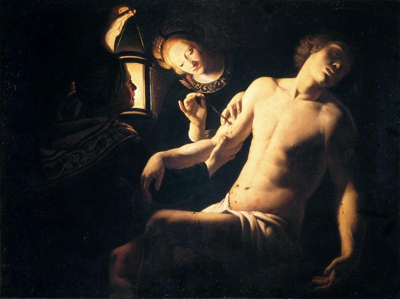 Saint Sebastian Healed by Irene. Trophime Bigot