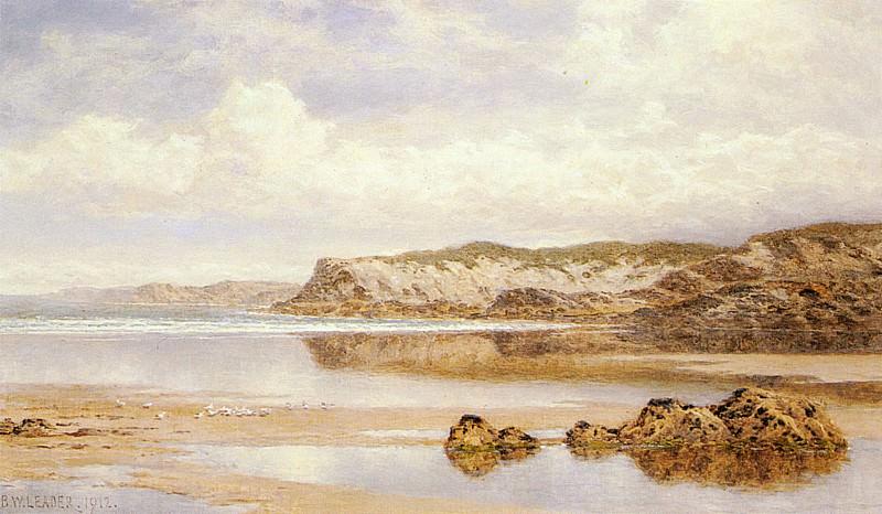 The Incoming Tide Porth Newquay. Benjamin Williams Leader