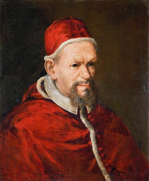Portrait of Pope Innocent X (Attr). Juan de Pareja