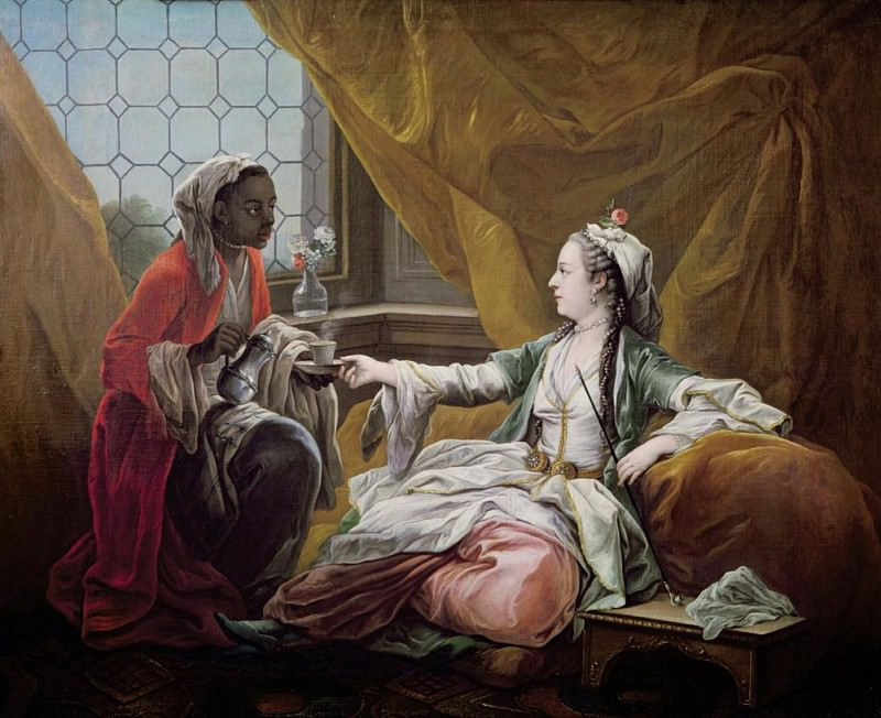 Sultana being offered coffee by a servant. Charles-André van Loo