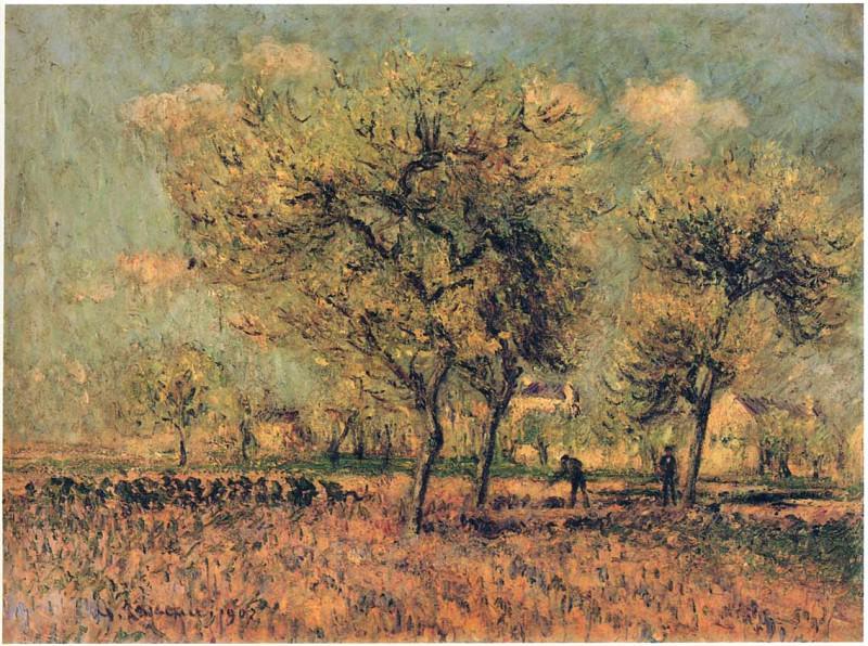 Весенний пейзаж. Гюстав Луазо