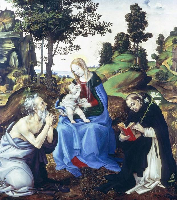 Святое семейство. Филиппино Липпи