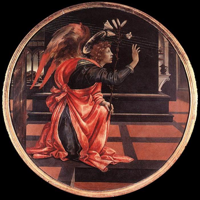 Gabriel from the Annunciation 1483 4. Filippino Lippi
