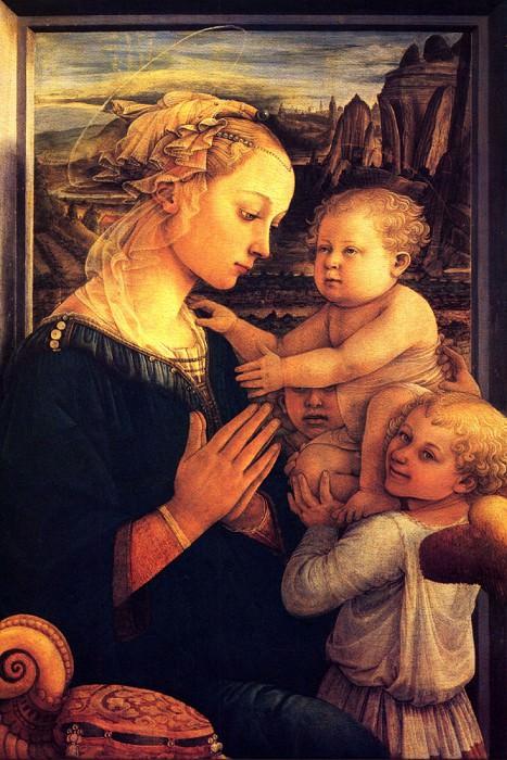 Virgin with children. Filippino Lippi