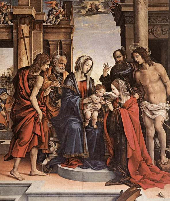 The Marriage of St Catherine 1501. Filippino Lippi