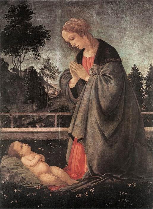 Поклонение Младенцу, ок.1483. Филиппино Липпи