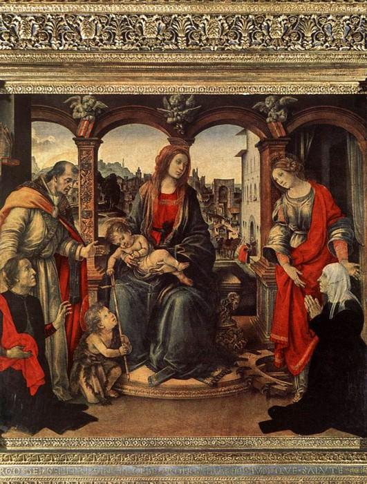 Мадонна с Младенцем и Святые, ок.1488. Филиппино Липпи