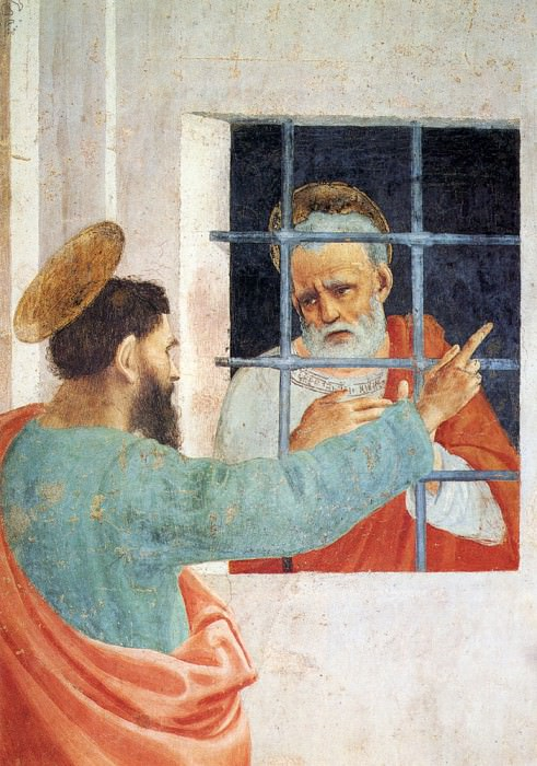 St Peter Visited In Jail By St Paul. Filippino Lippi