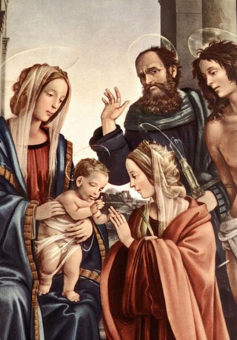Мистический брак Св. Катерины (фрагмент), 1501. Филиппино Липпи