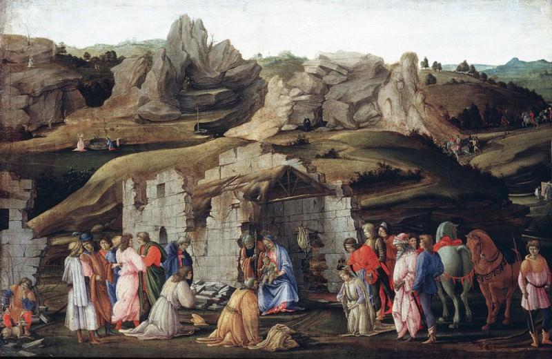 The Adoration of the Magi. Filippino Lippi