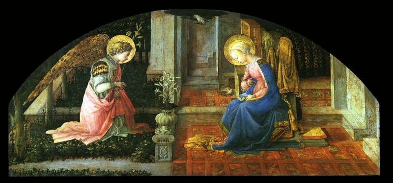 The Annunciation. Filippino Lippi