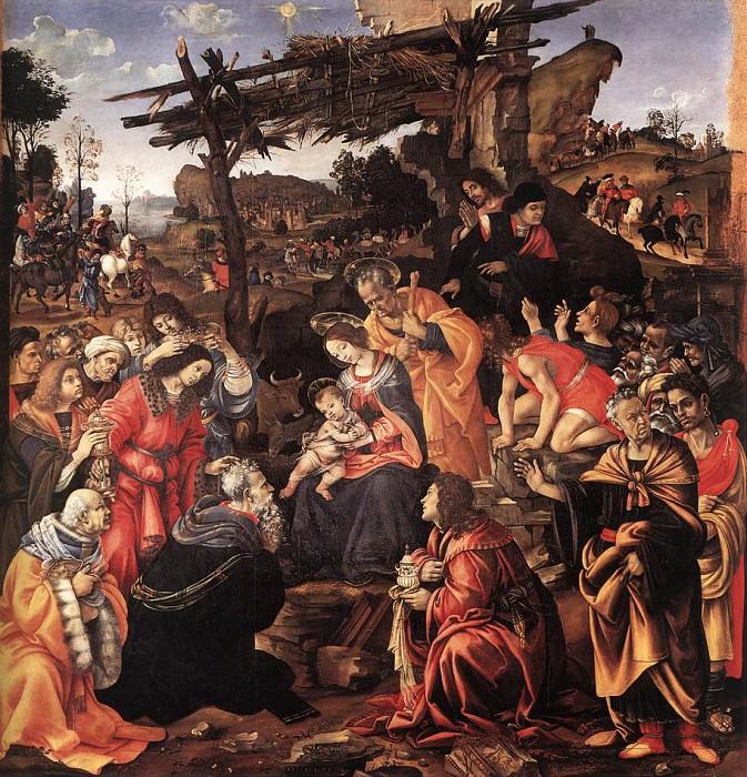 Поклонение волхвов, 1496. Филиппино Липпи