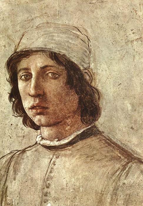 Self Portrait detail. Filippino Lippi