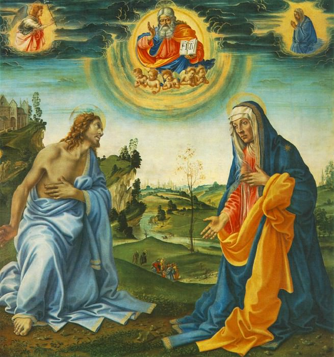 The Intervention of Christ and Mary. Filippino Lippi