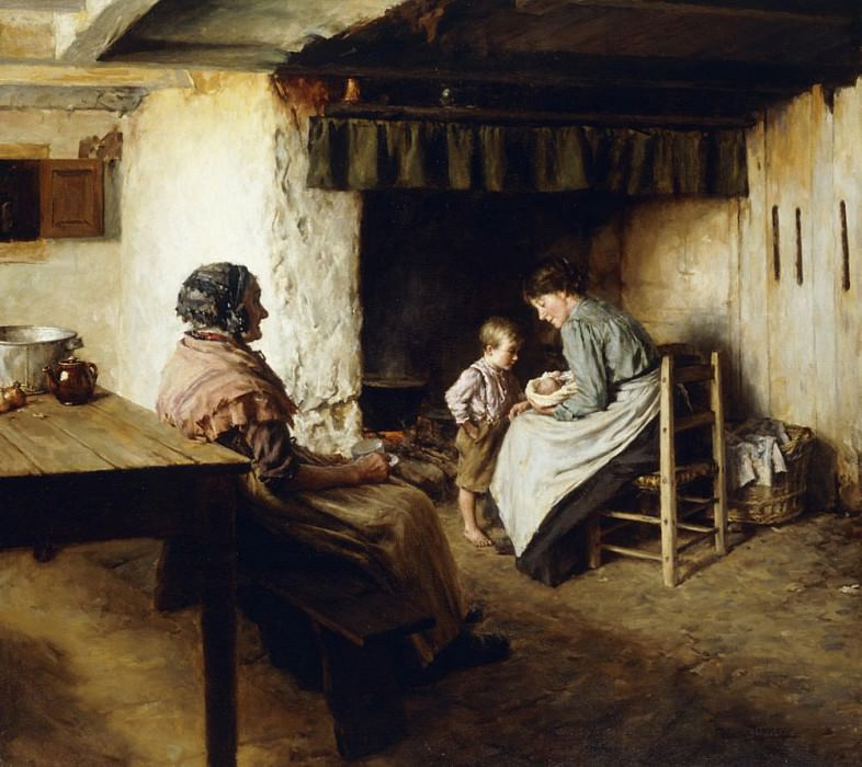 The New Arrival. Walter Langley