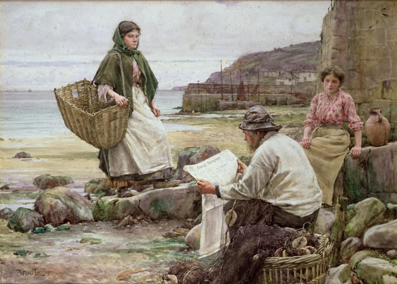 Newlyn: Catching up with the Cornish Telegraph. Walter Langley