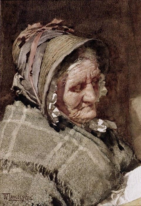 A Newlyn Fish Wife. Walter Langley