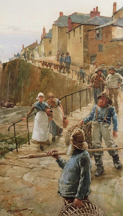 The Quayside, Newlyn. Walter Langley