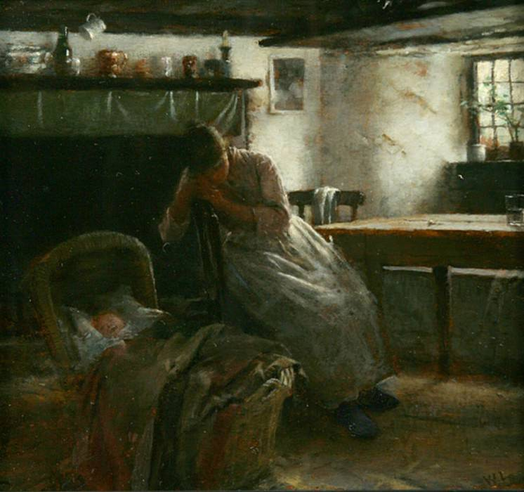 Daydreams, or Maternity. Walter Langley