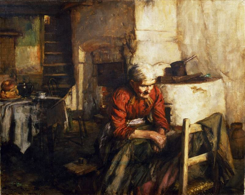 Mending Clothes. Walter Langley
