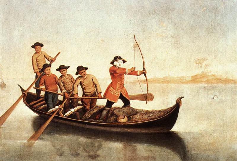 Duck Hunters On The Lagoon. Pietro Longhi