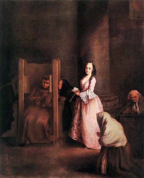 The Confession. Pietro Longhi