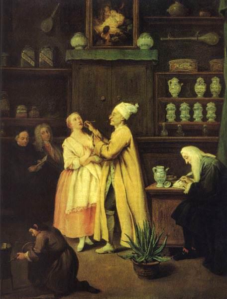 Il farmacista. (1752). Venezia, Galleria dellAccademia.. Pietro Longhi