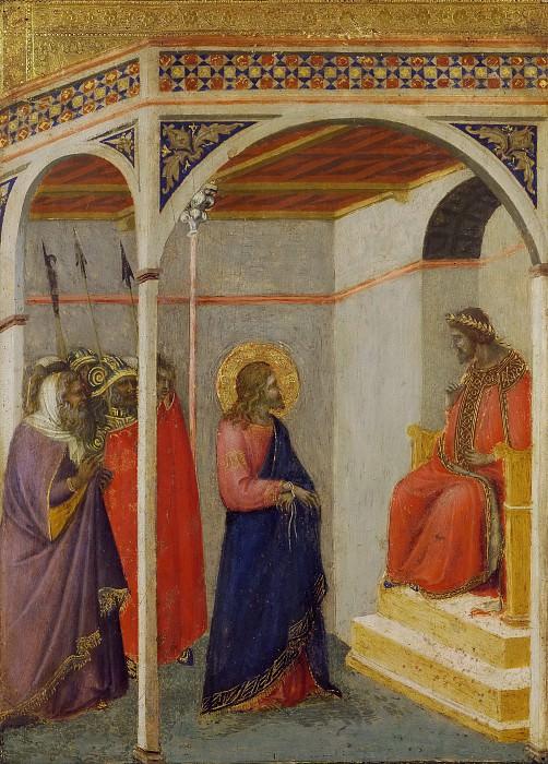 Christ Before Pilate. Pietro Lorenzetti