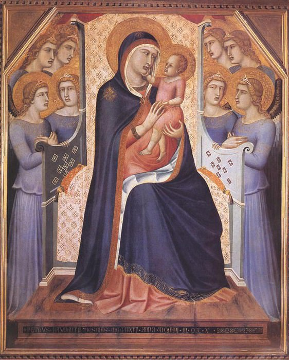 Madonna Enthroned With Angels. Pietro Lorenzetti
