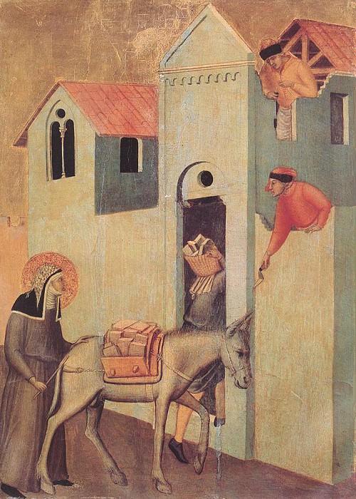 Beata Umilta Transport Bricks To The Monastery. Pietro Lorenzetti