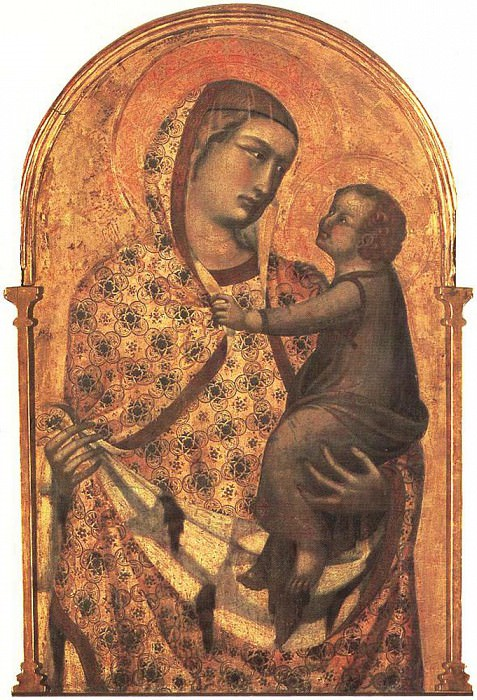 Мадонна и младенец, 1320. Пьетро Лоренцетти