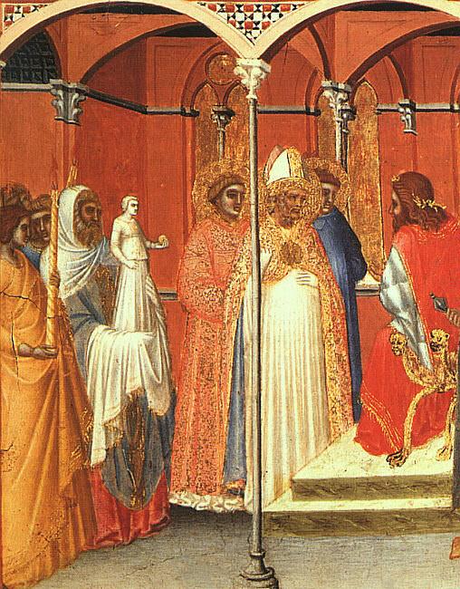 St. Sabinus Before the Governor, detail. Pietro Lorenzetti