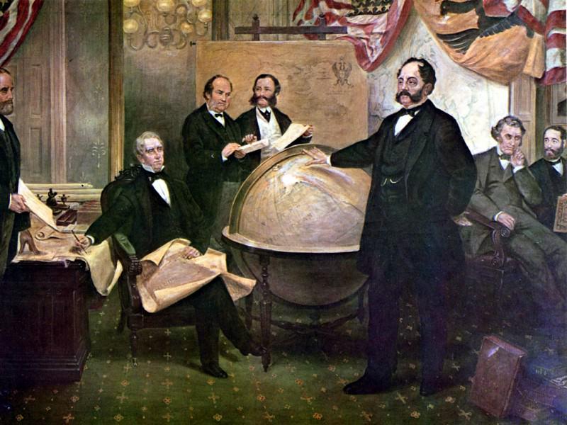 Purchase of Alaska. Emanuel Gottlieb Leutze