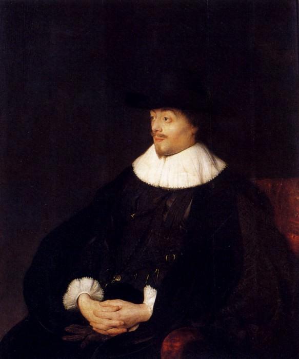 Portrait Of Constantijn Huygens. Jan Lievens