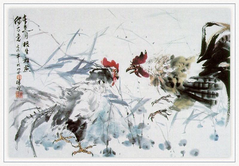 Zhen LianQuan TwoFightingRoosters sj. Zhen Lian-Quan