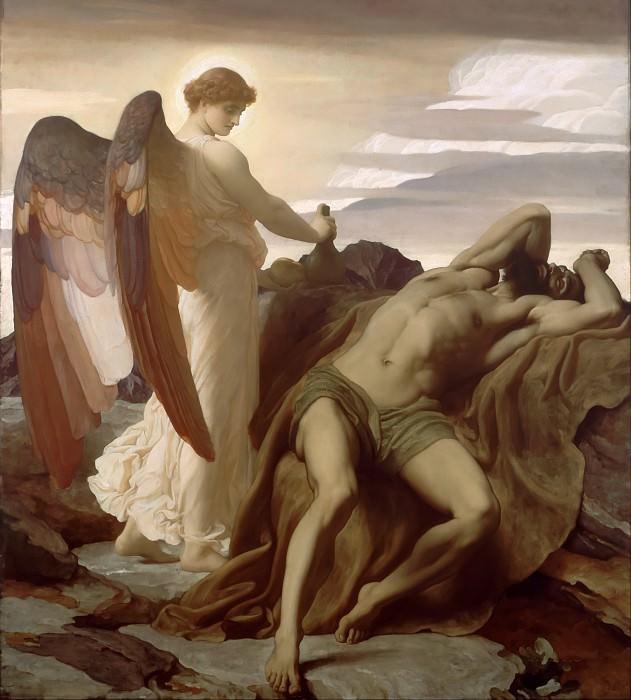 Elijah in the Wilderness. Frederick Leighton