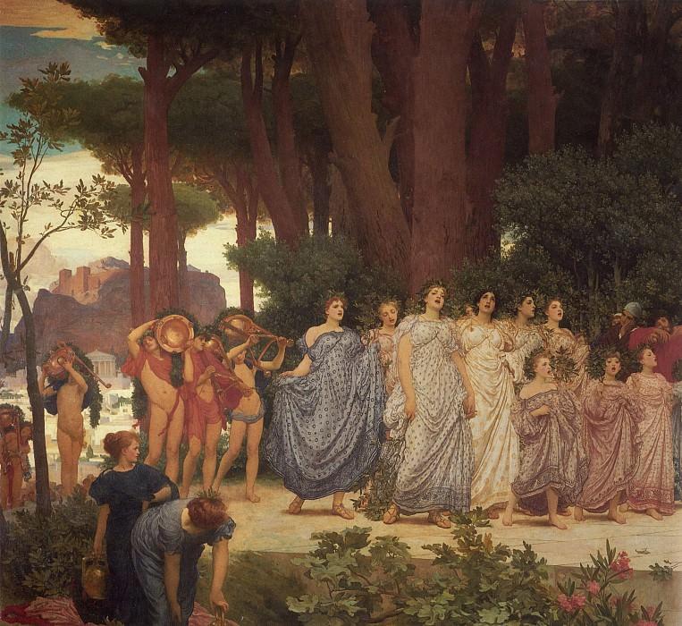 The Daphnephoria (detail). Frederick Leighton