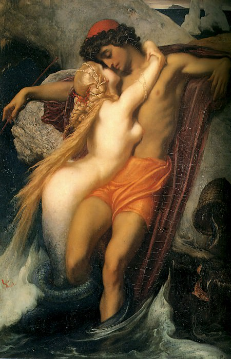 The Fisherman and the Syren. Frederick Leighton