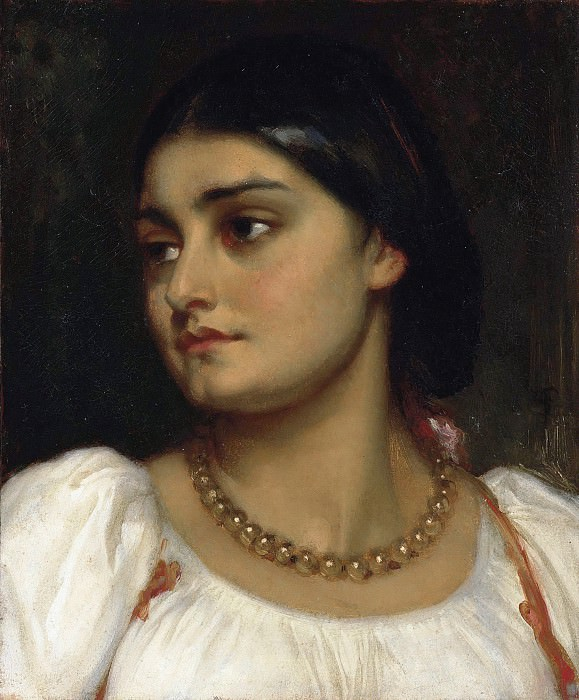 The Head Of A Girl. Frederick Leighton