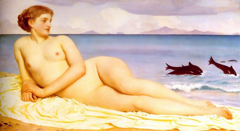 Actaea, the Nymph of the Shore. Frederick Leighton